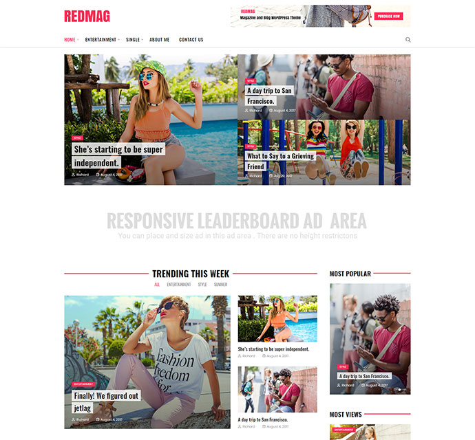 RedMag - AdSense Optimized & Entertainment News Theme