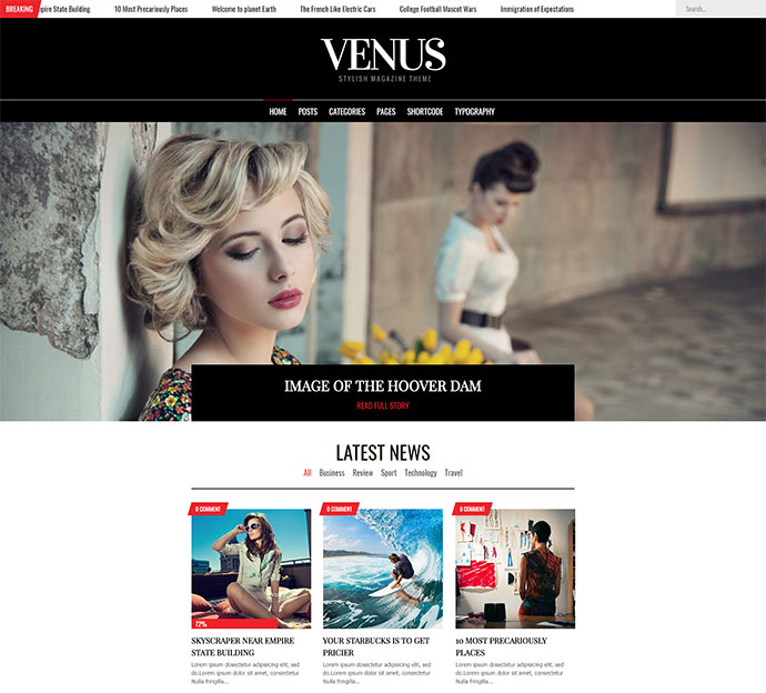 Venus | Magazine WordPress for Magazine