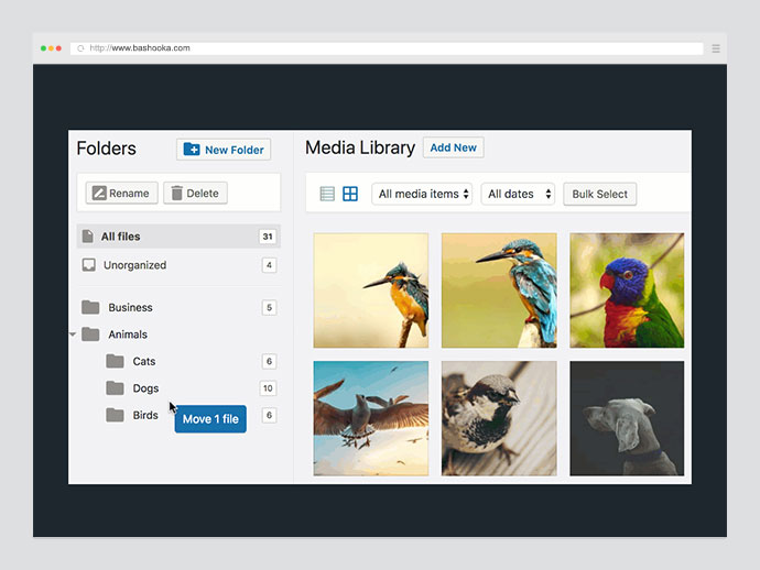 FileBird - Media Categories / Folders File Manager for WordPress