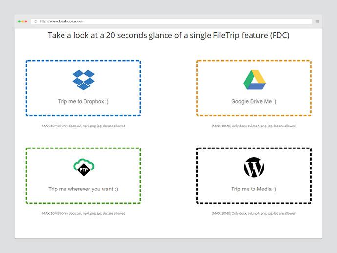 Filetrip | Easily upload to Dropbox + Google Drive + FTP + WordPress