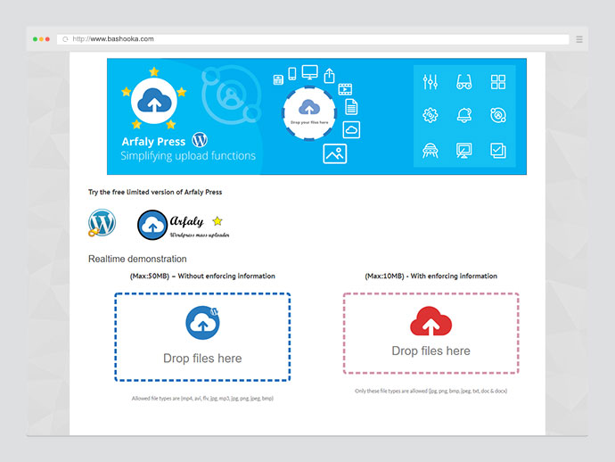 Arfaly Press - Frontend WordPress multimedia file uploader