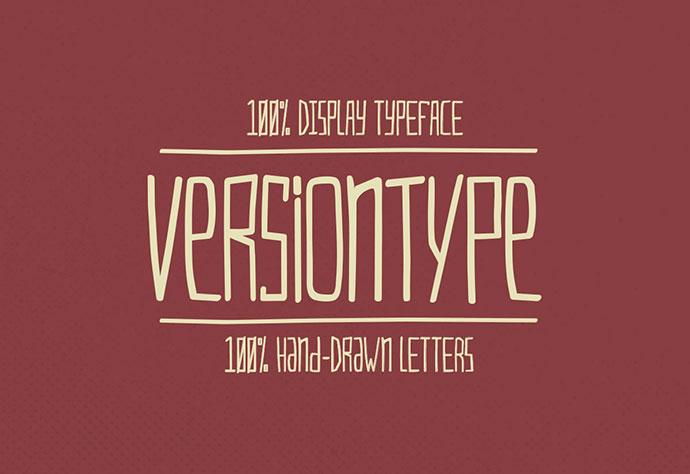 VersionType - A Free Font