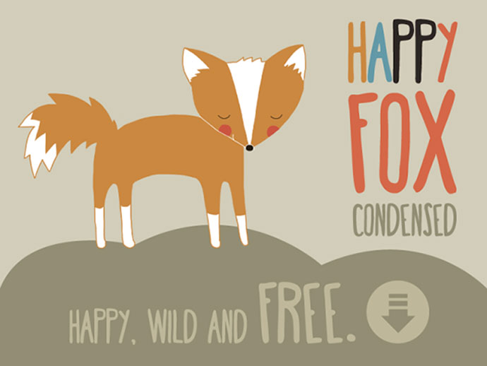 Happy fox. A free font
