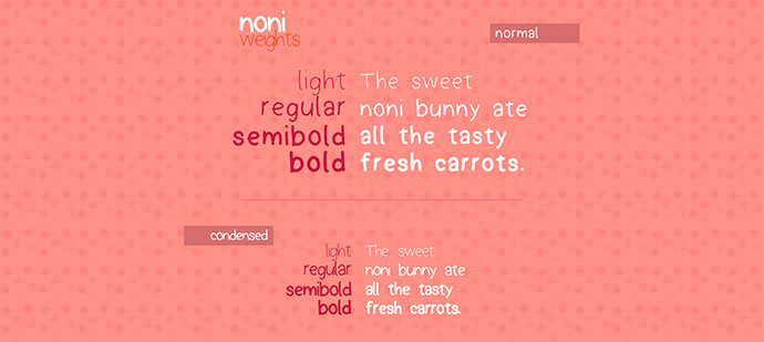 Noni Free Handwritten Font