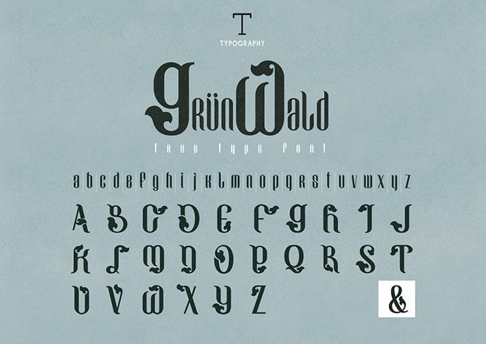 GRUNWALD - Free Font