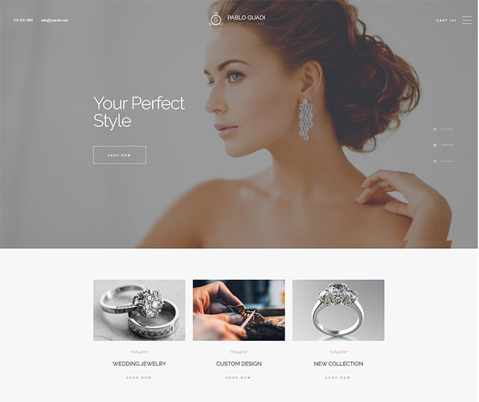 Pablo Guadi - Jewelry Designer & Handcrafted Jewelry Online Shop WordPress Theme
