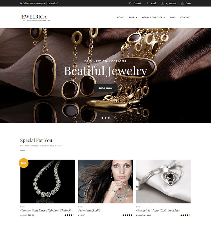 Jewelrica - eCommerce WordPress Theme