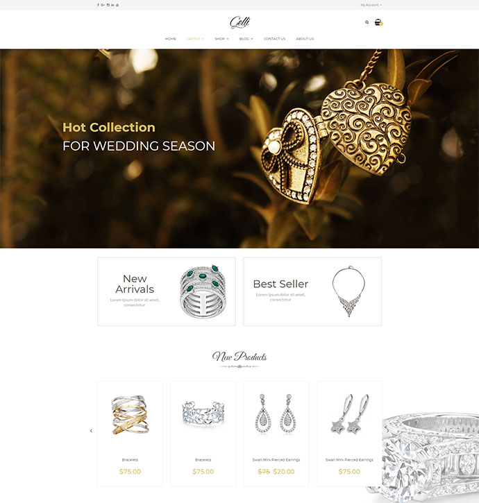 Gelli - WooCommerce Theme for Jewelry / Perfume / Accessories / Handmade Store