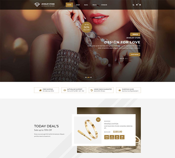 Karo - Jewelry and Diamond Handcrafted WooCommerce WordPress Theme