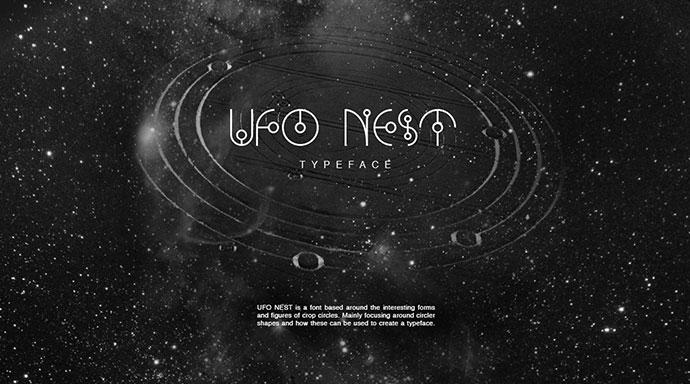 UFO NEST - Free Font