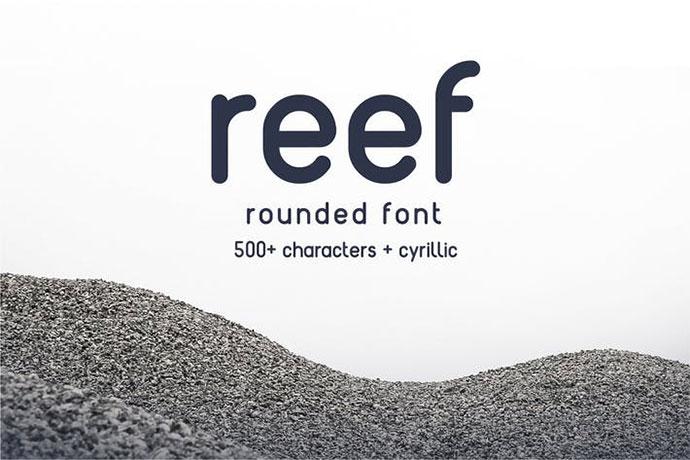 Reef - Round Font