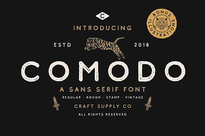 ComodoFont Family + Illustrations