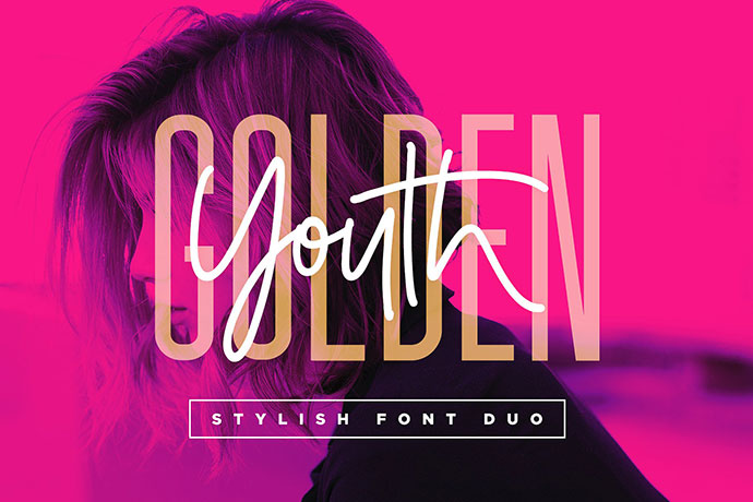 GoldenYouth Font Duo