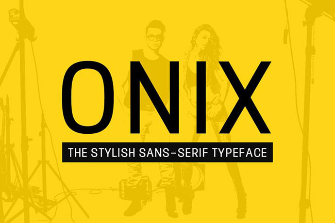 ONIX - Stylish Sans-Serif / Display Typeface