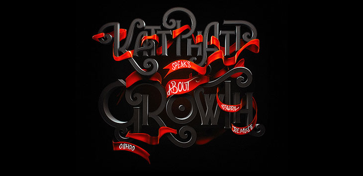 25 Cool 3D Hand-Lettering Typography Designs