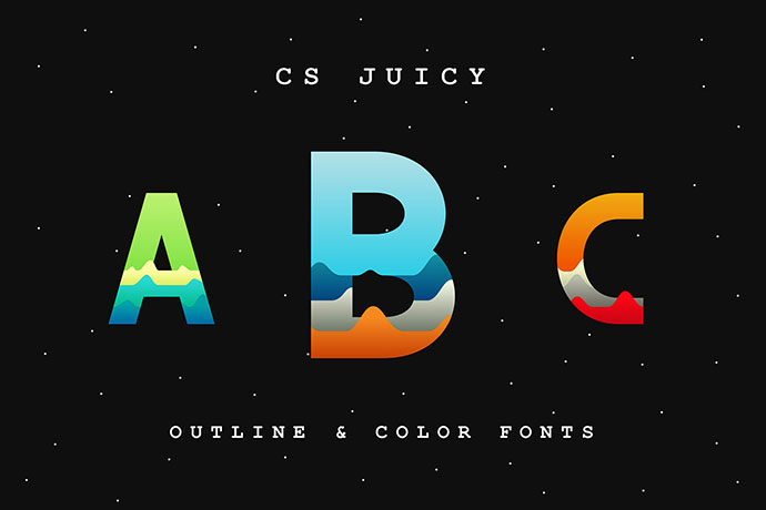 CS Juicy - Color Font (Free Download)