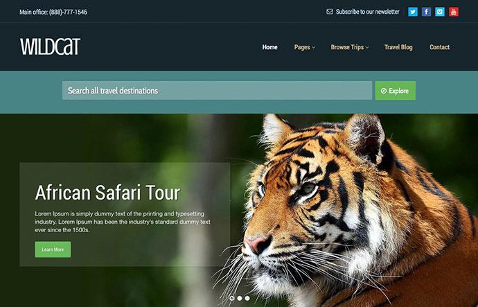 Wildcat - Travel & Booking WordPress Theme