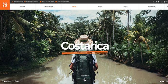 Roam - Travel and Tourism WordPress Theme