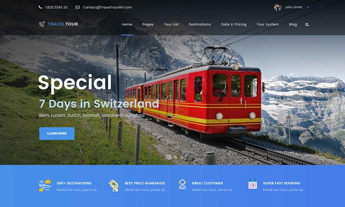 Travel Tour - Tour Booking, Travel Booking WordPress Theme