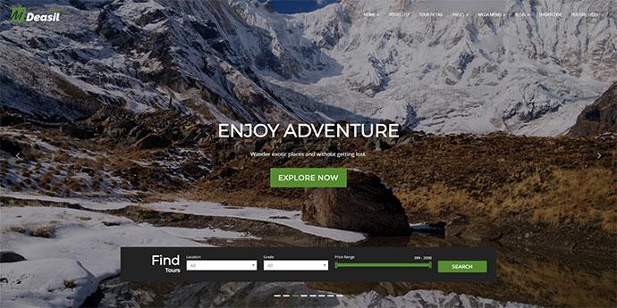 Deasil - Travel and Tour Booking WordPress Theme