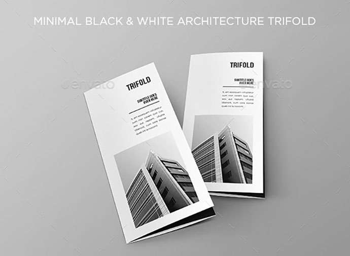 Minimal Black & White Architecture Trifold