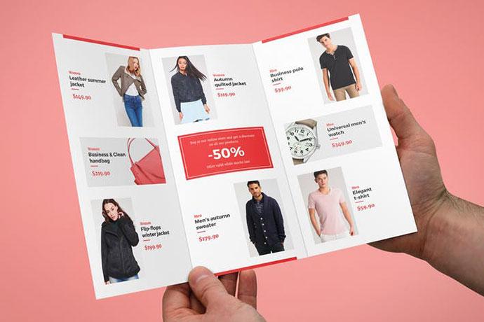 Brochure – Fashion Look Book Tri-Fold