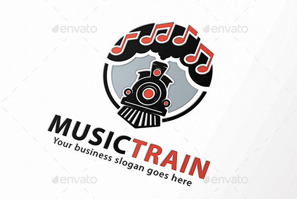 Music Train Note Logo