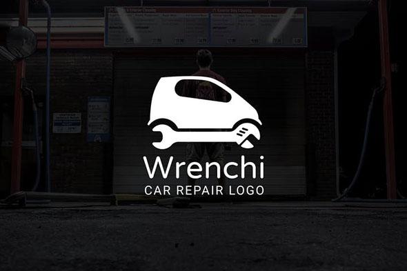 Wrenchi : Car Repair or Auto Repair Logo