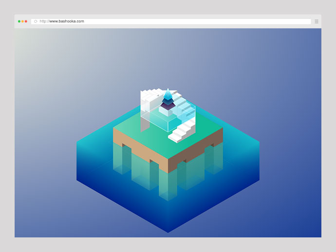Pure CSS 3D Island