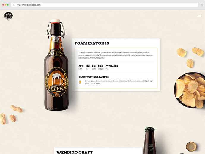 Pints&Crafts - A Theme Crafted for Breweries, Pubs and Bars