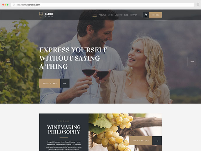 Jardi | Winery, Vineyard & Wine Shop WordPress Theme