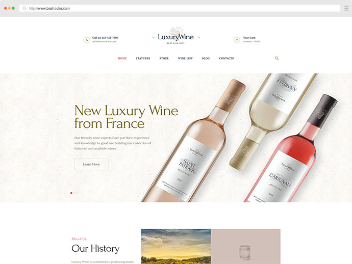 Luxury Wine | Wine House, Winery & Wine Shop WordPress Theme