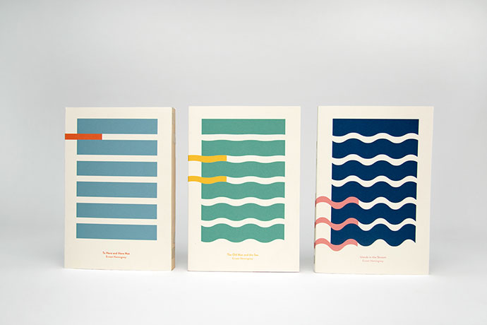 Hemingway and the Sea - Book covers