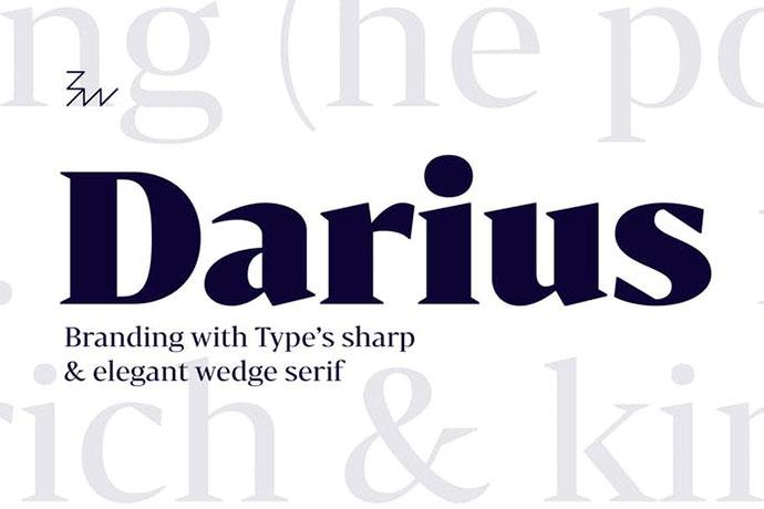 Bw Darius font family