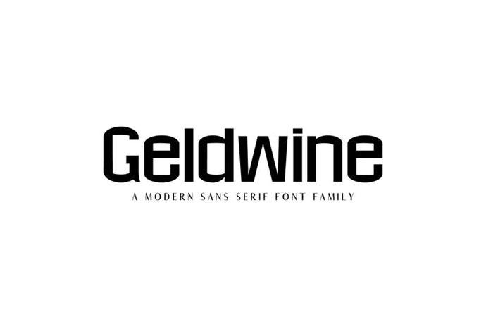 Geldwine Sans Serif Font Family