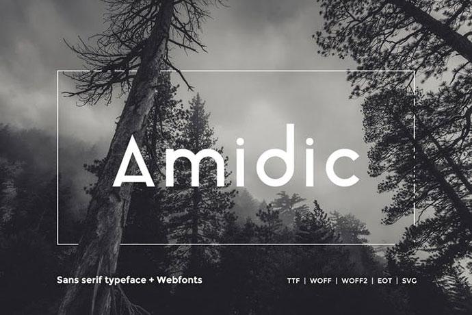Amidic - Modern San-serif Typeface + WebFont