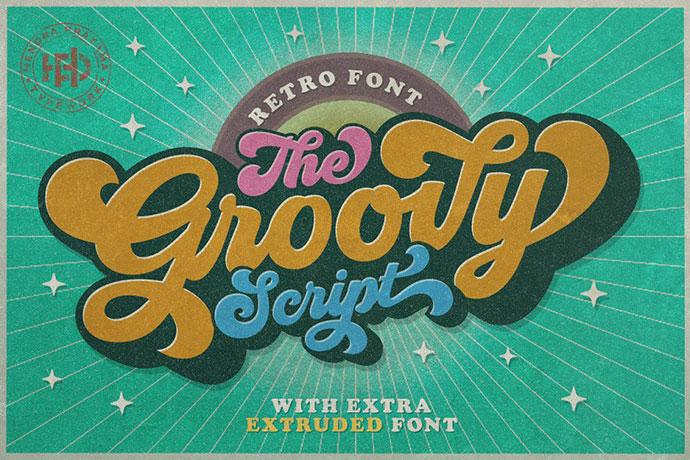 Groovy - Retro Font