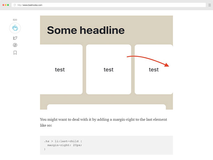 Creating horizontal scrolling containers the right way