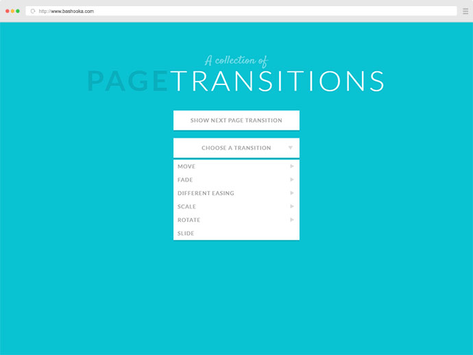 10 Javascript & CSS Page Transition Libraries – Bashooka