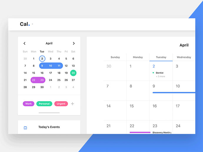 60 Superb Date Picker & Calendar UI Designs – Bashooka
