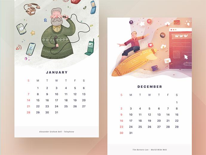 2018 Calendar by Paperpillar