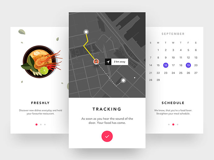 Onboarding Screen - Food ordering app
