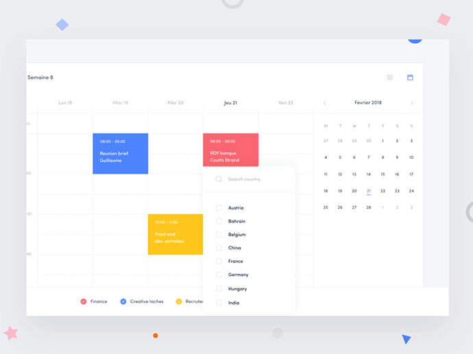 Holiday calendar widget