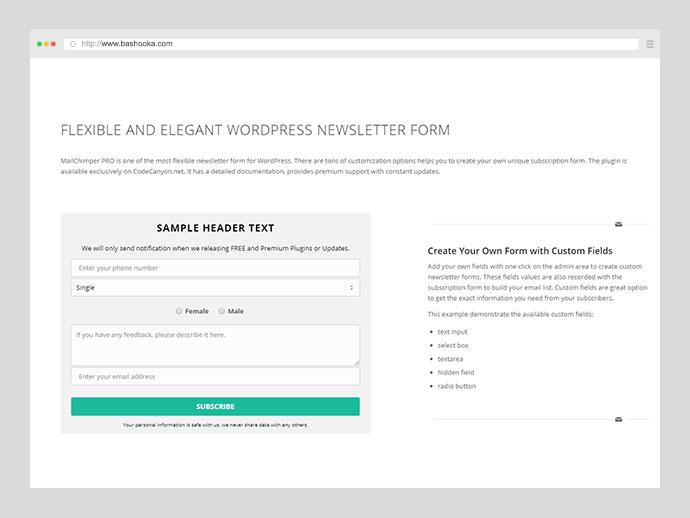 MailChimper PRO - WordPress MailChimp Signup Form Plugin