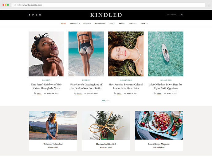 Kindled - Blog WordPress Theme