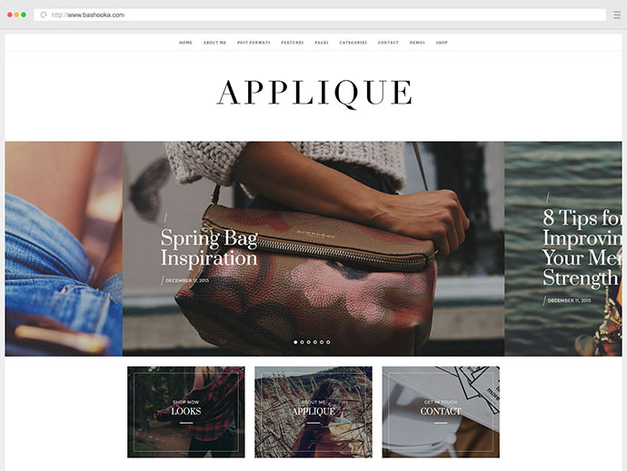 Fashion Blog Theme - Applique
