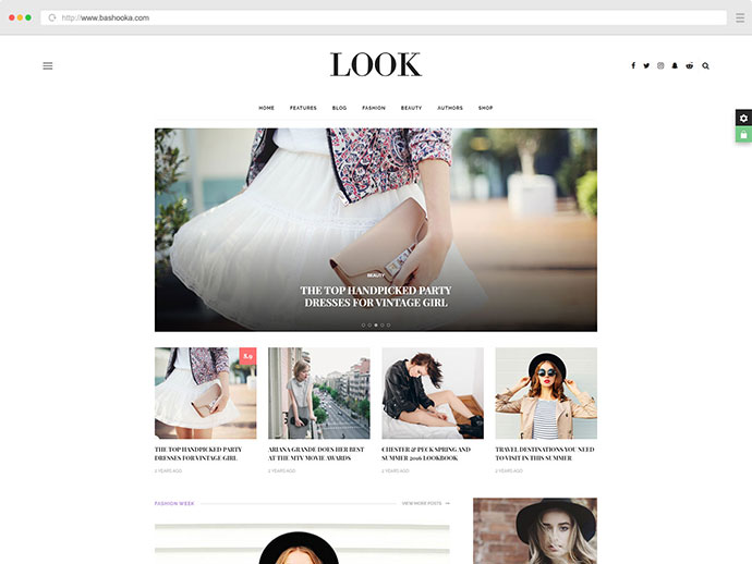 Look: A Fashion & Beauty News, Magazine & Blog WordPress Theme