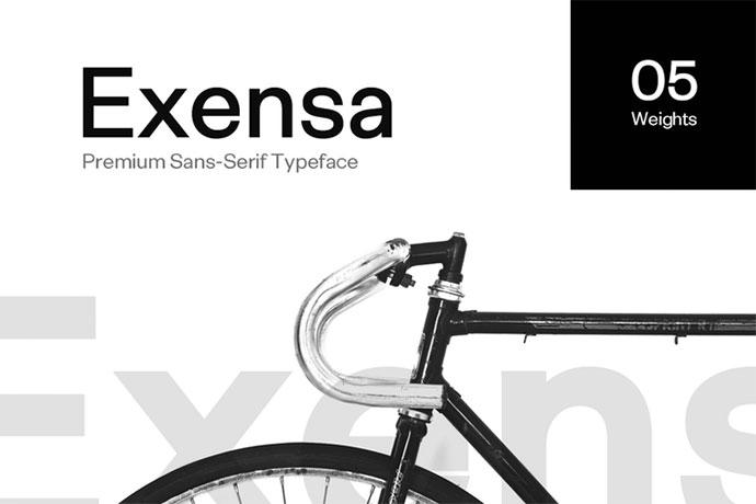 Exensa Grotesk - Sans Serif Typeface & Web Fonts