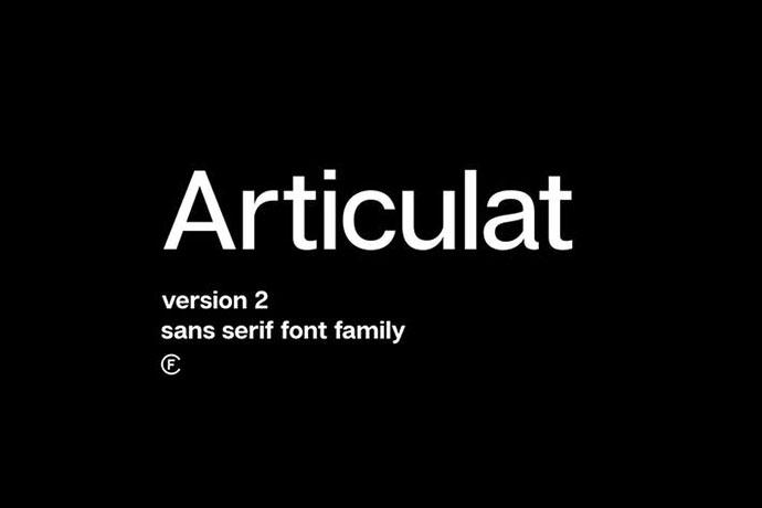 Articulat CF | modernist sans-serif font family