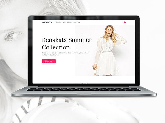 Kenakata - Free eCommerce Bootstrap Template PSD & HTML
